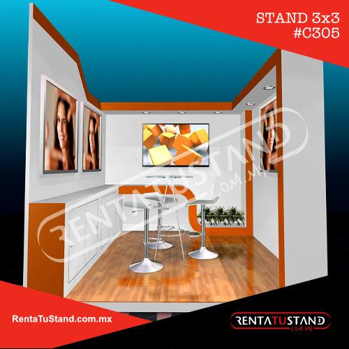 Stand 3x3 c305 en madera