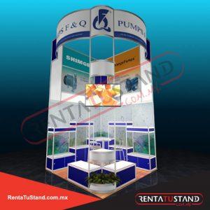 Renta de stand 3x3 #358 esquina en renta tu stand