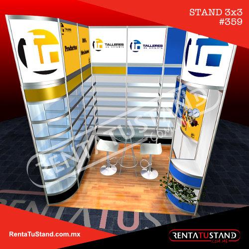 359 Renta Stands 3x3 cajon talleres