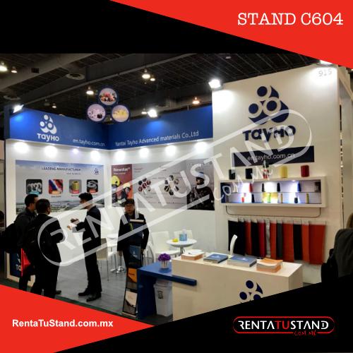 Renta de Stand custom c604 esquina 6x3