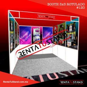 Renta Stand Institucional rotulado 3x3