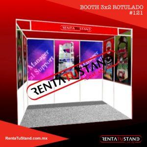 Renta Stand Institucional rotulado 3x2