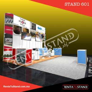 Stand en renta #601 sistema octanorm 6x3 o 6x6 en renta-tu-stand