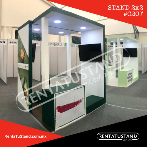 Stand en madera formato isla #C207